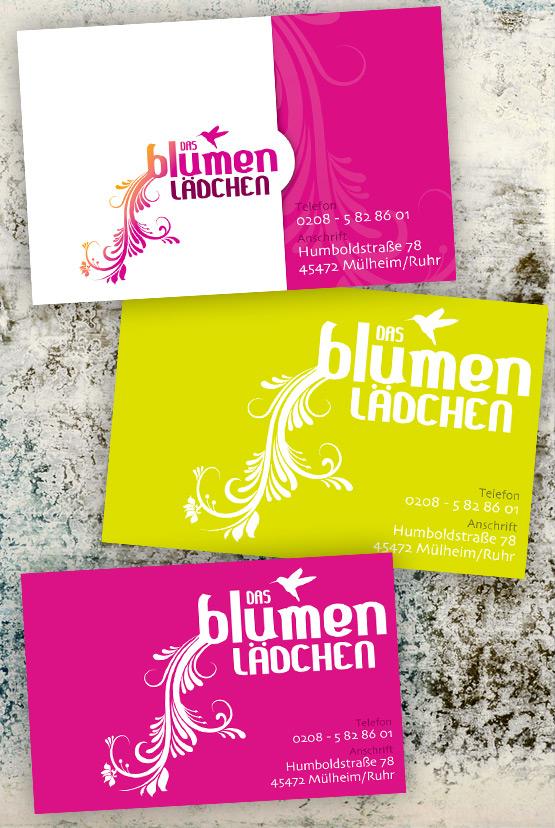 Visitenkarten Das Blumenlädchen Designmich